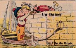GROIX 56 / ILE DE GROIX / Carte Système De Depliant 10 Vues / Un Baiser De L'Ile De Groix / - Groix