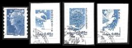 FRANCE  2008  - YT  179 à 182   - Marianne Et L'Europe  - La Série - Adhésifs (autocollants)