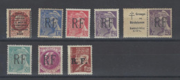 MONTREUIL BELLAY RESISTANCE + TRAFIC CLANDESTIN AERIEN LA MOTTE CHAMPAGNE 8 TIMBRES MNH ** /FREE SHIPPING REGISTERED - Liberation