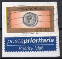 Italia 2004 Uf. 2770 Posta Prioritaria Viaggiato Used On Paper Su Frammento - 6. 1946-.. Repubblica