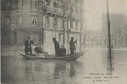 CRUE  DE  LA  SEINE  -  CLICHY  -  Place  Des  Fêtes  -   28  Janvier  1910  /  Boulangerie Patisserie  /  ELD - Clichy