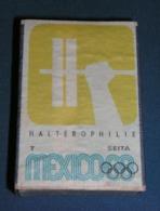 Boite D'allumettes : Mexico 68 : Haltérophilie - Boites D'allumettes - Etiquettes