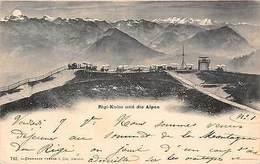 Switzerland Rigi-Kulm Und Die Alpen 1899 - Switzerland