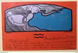 """8891 - Henri Meunier """"Zodiac"""" Série Complète De 12 Cartes Circulées Bruxelles 21.11.1899 Excellent état - Altre Illustrazioni"""