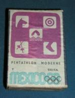 Boite D'allumettes : Mexico 68 : Pentathlon Moderne - Boites D'allumettes - Etiquettes