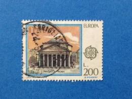 1978 ITALIA EUROPA CEPT PANTHEON ROMA 200 FRANCOBOLLO USATO STAMP USED - 6. 1946-.. Repubblica