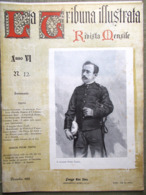 La Tribuna Illustrata Mensile Dicembre 1895 Pietro Toselli Natale Dumas Wagner - Ante 1900