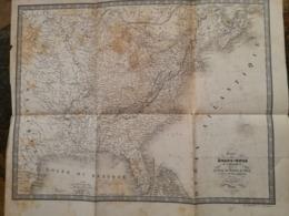 Etats Unis D'Amérique  Carte Dressée Par GUIZOT  1840  52 X 42 Cm  état Moyen  Voir Photo - Carte Geographique