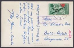 """Landpost, """"Grapzow über Altentreptow"""", Bedarfs- AK, 1957 - [6] República Democrática"""