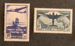 FRANCE - 1936 - YT 320 Et 321 * - CONQUETE AERIENNE DE L ATLANTIQUE SUD - Nuovi