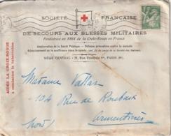 ***  Letttre Croix Rouge Française Et Courrier à Entête Croix Rouge  - MILITARIA  Guerre 39/40 -daté 1939 - France