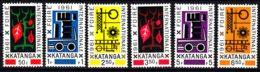Belgium Colonies Katanga 1961 Mi#69-74 Mint Hinged - Katanga
