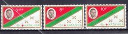 Belgium Colonies Katanga 1961 Mi#66-68 Mint Hinged - Katanga