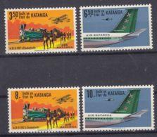 Belgium Colonies Katanga 1961 Airmail Mi#75-78 Mint Hinged - Katanga