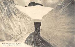 Switzerland Chemin De Fer De Naye Dans Les Parois De Neige Railroad - Altri