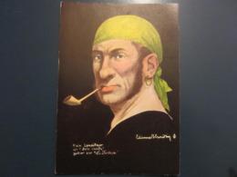 Carte Postale Les Corsaires Etienne Blandin Alain Lemeilleur Dit Belle Viande - Andere Zeichner