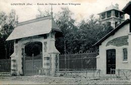 N°76634 -cpa Gouvieux -entrée Du  Château Du Mont Villargenne- - Gouvieux