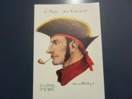 Carte Postale Les Corsaires Etienne Blandin Félicien Bourdet Dit Courte Mèche - Andere Zeichner