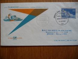 (1) NEDERLANDSE ANTILLEN FDC 1957 E4 HOTEL CURACAO - Curaçao, Nederlandse Antillen, Aruba