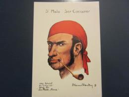 Carte Postale Les Corsaires Etienne Blandin Léon Rabatel Dit L'Aiguillot - Andere Zeichner