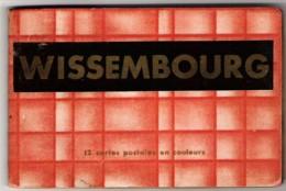 67 BAS RHIN Carnet De 12 Cartes Postales Anciennes Couleur  En Chapelet De WISSEMBOURG - Wissembourg