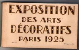 75 PARIS Carnet De 20 Cartes Postales Anciennes De L'Exposition Des Arts Décoratifs De Paris 1925 - Mostre