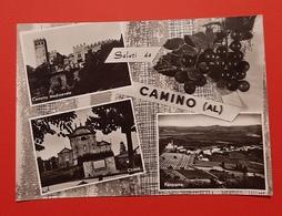 Cartolina Saluti Da Camino ( AL ) - Chiesa - Panorama - 1963 - Alessandria
