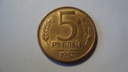 MONNAIE RUSSIE 5 ROUBLES 1992 - Rusland