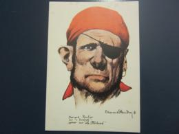 Carte Postale Les Corsaires Etienne Blandin Bernard Roulier Dit L'Emondé - Andere Zeichner