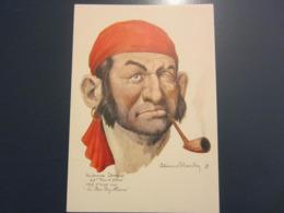 Carte Postale Les Corsaires Etienne Blandin Ambroise Denoual Dit Peau D'flétan - Andere Zeichner