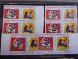 GRECE EUROPA CEPT 2002 6X PAIR  NEUF** DEPART 1 EURO - 2002