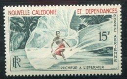 15623 NOUVELLE CALEDONIE PA67** 15F Pêcheur à L'épervier  1955  TB - Ongebruikt