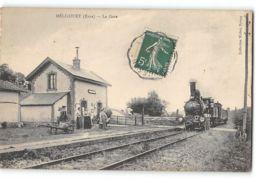 CPA 27 Mericourt La Gare Et Le Train - Autres Communes