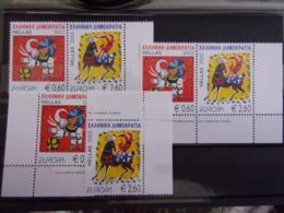 GRECE EUROPA CEPT 2002 2X PAIR + 2 TIMBRES NEUF** DEPART 1 EURO - 2002