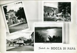 ROCCA DI PAPA  ROMA  Saluti Da..  Vedutine  Chiesa Panorama  Lago  Albergo Monte Cavo - Italy