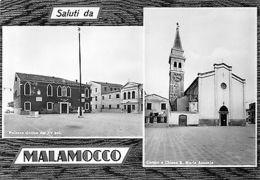 Italy Saluti Da Malamocco Multiviews Campo E Chiesa S Maria Assunta Palazzo - Italie