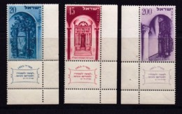 ISRAEL, 1953, Unused Hinged Stamp(s), With Tab,  New Year, SG85-87, Scannr. 17783 - Israël
