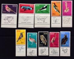 ISRAEL, 1963, Unused Stamp(s), With Tab,  Birds, SG244-253, Scannr. 17585 - Israël