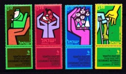 ISRAEL, 1964, Unused Stamp(s), With Tab,  Insurance Stamps, SG270-273, Scannr. 17587 - Israël
