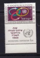 ISRAEL, 1965, Unused Stamp(s), With Tab, Co-operation Year, SG316, Scannr. 17593 - Israël