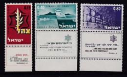 ISRAEL, 1967, Unused Stamp(s), With Tab, Zahal, Army, SG361-363, Scannr. 17604 - Israël