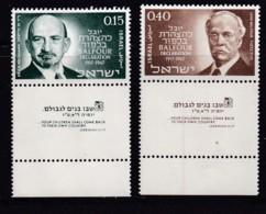 ISRAEL, 1967, Unused Stamp(s), With Tab, Balfour Declaration, SG372-373, Scannr. 17605 - Israël
