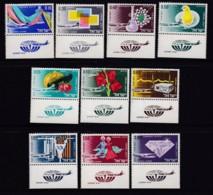 ISRAEL, 1968, Unused Stamp(s), With Tab, Airmail - Exports (10V), SG377-386, Scannr. 17607 - Israël
