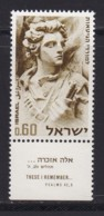 ISRAEL, 1968, Unused Stamp(s), With Tab, Ghetto Warsaw Uprising, SG392, Scannr. 17615 - Israël