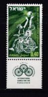 ISRAEL, 1968, Unused Stamp(s), With Tab, Games For Paralysed, SG404, Scannr. 17608 - Israël