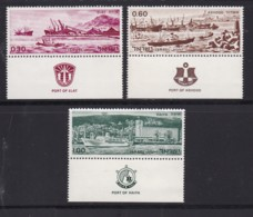 ISRAEL, 1969, Unused Stamp(s), With Tab, Ports Of Israel, SG405-407, Scannr. 17610 - Ungebraucht (mit Tabs)
