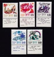 ISRAEL, 1969, Unused Stamp(s), With Tab, New Year - Festival, SG425-429, Scannr. 17614 - Israël