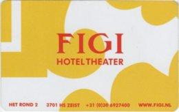 Figi-Hotel-Theater  Netherlands [1792]--key Card, Room Key, Schlusselkarte, Hotelkarte - Hotelkarten