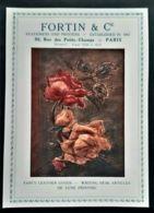 FORTIN IMPRIMEUR 1920 PAPETERIE RELIURE CUIR LUXE PUBLICITE PAPIERS PARIS ANTIQUE AD ENGRAVER STATIONERY PAPER - Reclame