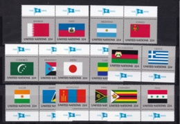 UNO-New York, 1987  524/39,  MNH **,   Flaggen Der UNO-Mitgliedstaaten (VIII). - Unused Stamps